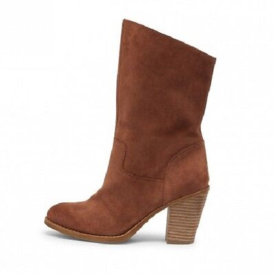 Women's Lucky Brand EMBERLEIGH Slouch Mid-Shaft Booties Suede  Size 6 NEW IN BOX