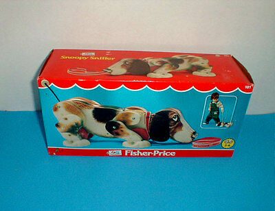 """Original 1961 """"SNOOPY SNIFFER"""" Fisher Price #181 - EXCELLENT - NEW IN BOX"""