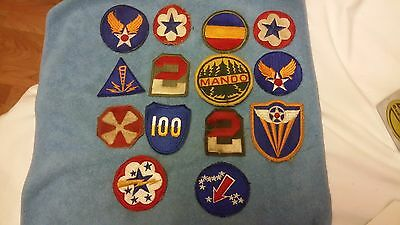 Lot Of 14 Vintage U.s. Army Wwii Etc.  Patches Mando