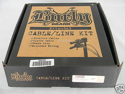 Throttle Cable, Clutch Cable, Brake Line KIT 97-13 XL SPORTSTERS by Burly Brand