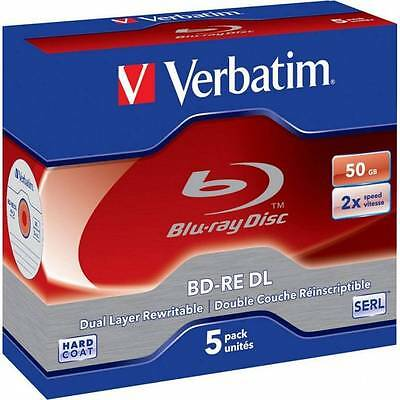 Blu-ray BD-RE DL 50GB Verbatim 5pcs     2x