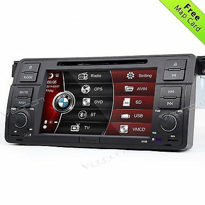 """Eonon Plug and Play Car DVD Player Stereo GPS for BMW E46 7"""" Touch Screen A Map"""