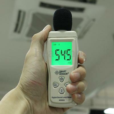30-130dB Digital Sound Level Decibel Meter Logger Noise Monitor Pressure Tester