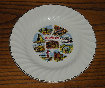 Vintage New Mexico The Land Of Enchamen.plate 7 1/4''gold Trim, Collectors Plate