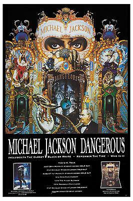 KING OF POP: Michael Jackson *DANGEROUS TOUR POSTER* UK 1993