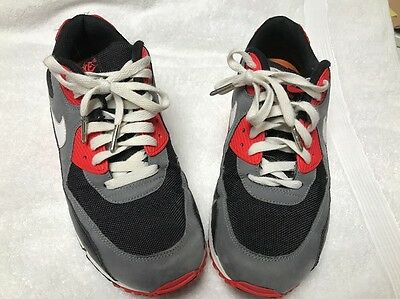 NIKE AIR MAX 90 CLASSIC Men's 9 Reverse Infrared Retro Shoes 345188 001 Suede