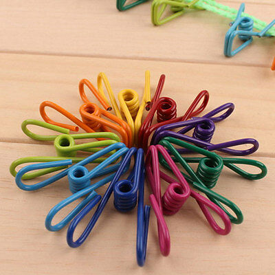 10 Pcs/pack Multi-Purpose Metal Clips Holders Chip Bag Document Steel Wire Clips