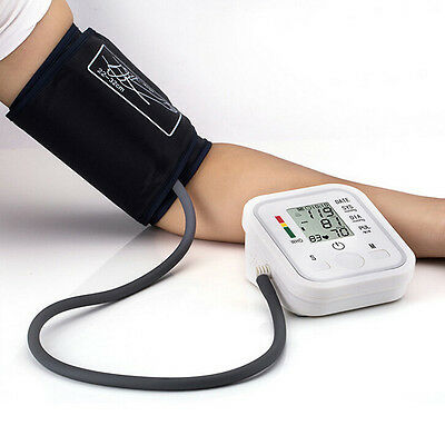 New Digital LCD Wrist Blood Pressure Monitor Heart Beat Rate Pulse Meter Measure