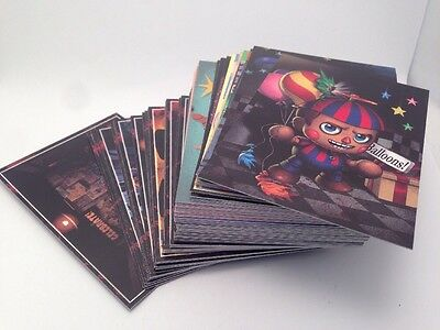 Five Nights at Freddys Trading Cards complete set of 120 foil just toys intl