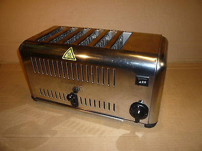 Buffalo 6 Slot toaster CB433 Commercial Catering Slice 2860w