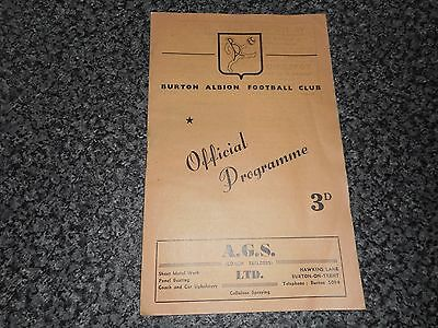 BURTON ALBION  v  HINCKLEY ATHLETIC  1958/9 SOUTHERN LEAGUE ~ OCTOBER 11th