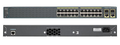 Cisco Catalyst WS-C2960-24PC-S 24-Port Fast Ethernet + PoE Network Switch