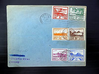 GB JERSEY 1943 Wartime Views (6) on FDC with 3 Different Dates RARE XZ293