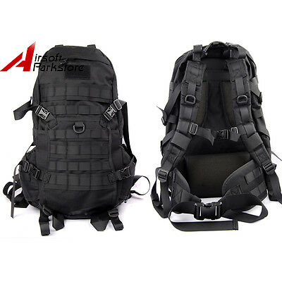 1000D Military Tactical Molle Backpack Rucksack Assault Camping Hiking Bag Black