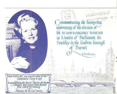 MARGARET THATCHER 'FAGA' POSTCARD used HOUSE OF COMMONS 10 June 1987