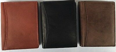 BNWT Mens Boys Real Leather  Wallet  Credit Card Holder LD 034