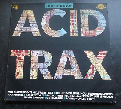 Various - Jackmaster Acid Trax Lp Acidlp 1 Westside Records 1988 Vg+!
