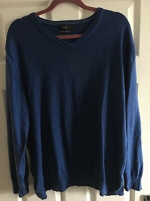 Men's Blue Xl Jeff Banks Jumper