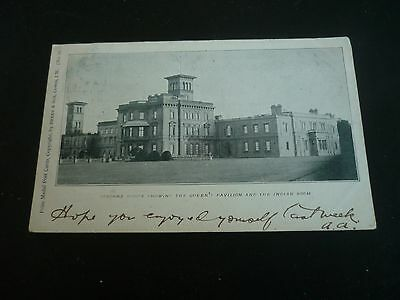 OSBORNE HOUSE showing Queen's Pavilion and Indian Room, Postcard posted 1903