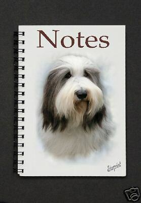 Bearded Collie Notebook/Notepad with small image on every page - by Starprint