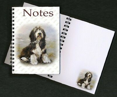 Bearded Collie Notebook / Notepad No 3SH By Starprint - Auto combined postage