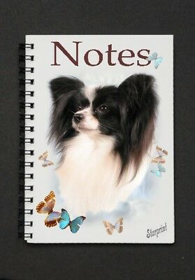 Papillon (Butterfly Dog) Notebook/Notepad By Starprint - Auto combined postage
