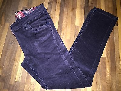 NEXT Girls Navy Slim Fit Cords Trousers Age 7 GREAT CONDITION