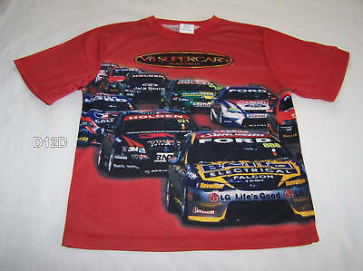 V8 Supercars Holden Ford Boys Red T Shirt Top Size 12 New