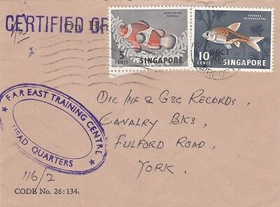 1965 British Forces In Singapore Official Air Mail Cover With An Oval Cachet 23*