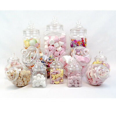 12x Retro Vintage Jars Pick'n'Mic Candy Buffet Sweet Shop Wedding Kids Party Kit