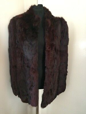 French Rabbit Real Fur Coat Jacket  Size 14