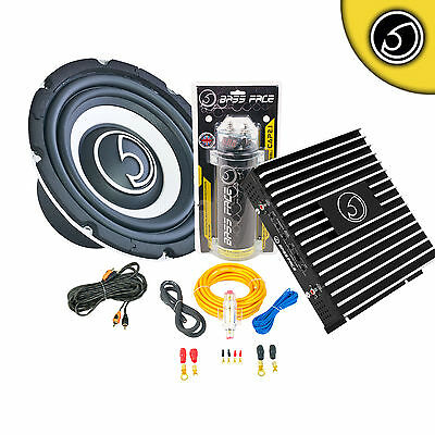 """Bass Face 800W 8"""" Car Sub Subwoofer 