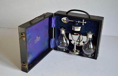 SUPERB QUALITY VINTAGE SILVER TRAVELLING COMMUNION SET ~ A R Mowbray London 1957