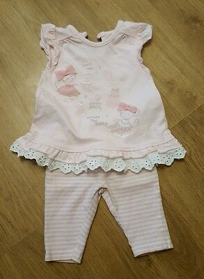 cute baby girls newborn outfit leggings & top pink spring summer