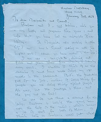 1958 Air Mail Letter From T. L. Yang Chief Justice Of Hong Kong 1988-1996