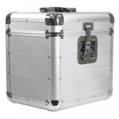 """Soundlab Euro Style Album / 12"""" / LP Case in Silver Finish - Holds 70 Records"""