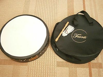 "Ferris Irish drum/bodhran 16"" tunable/adjustable with case and stick (tipper)"