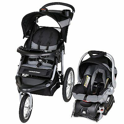 Baby Trend Expedition Travel System with Stroller and Car Seat, Millennium White