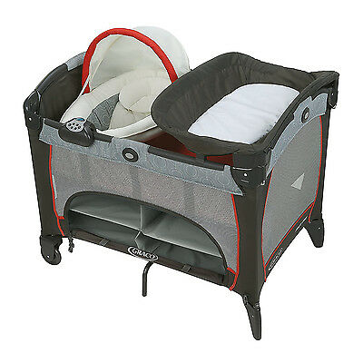 Graco Pack 'n Play DLX Playard with Newborn Napper Station (30 Lbs Limit), Solar