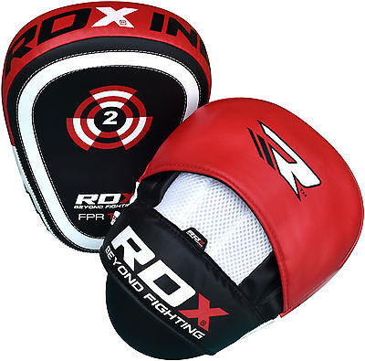 RDX Curved Focus Pads Mitts,Hook and Jab,Punch Bag Kick Boxing Muay Thai MMA UFC