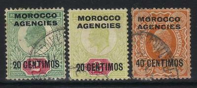 Morocco Agencies 1907-1912 Optd 3 Used Values Cat £7