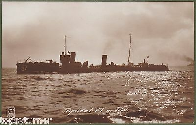 WW1 German Torpedo Boat 197. Launched 1911, Scrapped at Briton Ferry 1921. RP.