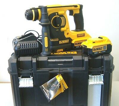 DeWALT DCH253M2 18V XR 3 mode SDS hammer drill 2x4Ah batteries in deep T-Stak VI