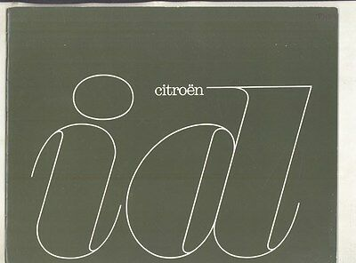 1963 Citroen ID ID19 Prestige Brochure German ww4988