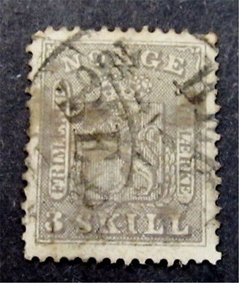 nystamps Norway Stamp # 7 Used $525
