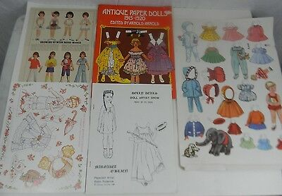Vintage Lot Miscellaneous Paper Doll Items Betsy McCall Anni Victorian Ginny ++