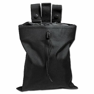 Mil-Tec Foldable Dump Bag Ammo Pouch Black Army Molle Airsoft Magazine Pouch