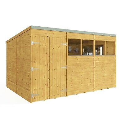 14x8 12x8 10x8 Wooden Shed - Expert Tongue & Groove Pent Workshop Shed