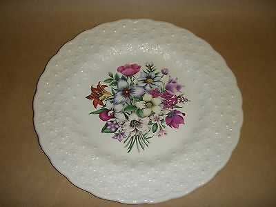 Spode Canadian Provincial Flowers Plate - Textured Finish Floral Design
