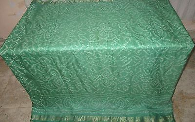 UK Pure silk Antique Vintage Sari PARTY DECOR 4y Ch16 6006 Tr Pista #ABZAZ